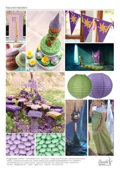Rapunzel Party inspiration board