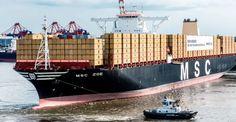 Bautizado en Hamburgo el mayor barco transportador de contenedores del mundo