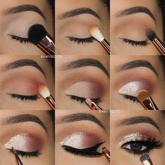 7 simple makeup tips to make your eyes burst .- 7 einfache Make-up-Tipps, um Ihre Augen zum Platzen zu bringen – Style O Check 7 Simple Makeup Tips to Make Your Eyes Burst – Style O Check …, - Makeup Eye Looks, Eye Makeup Steps, Pretty Makeup, Skin Makeup, Eyeshadow Makeup, Perfect Makeup, Silver Eye Makeup, Easy Eye Makeup, Eyeshadows