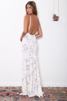 Flynn skye bardot maxi dress in white