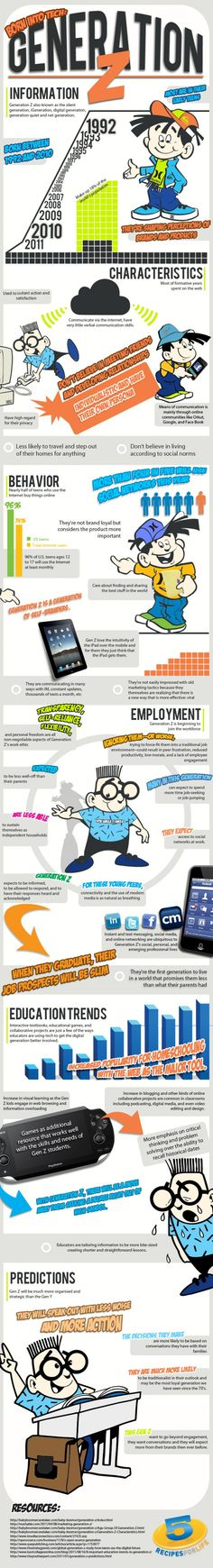 Generation Z Infographic. Interesting. This is a generation who never knew a time when the internet did not exist.