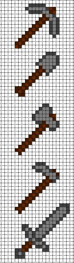 Minecraft Pixel Art Templates - Stone Tools