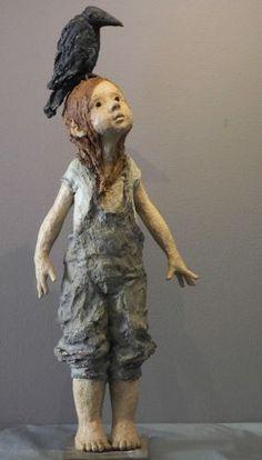 www.maznel.com GALERIE JURGA JURGA2.html Sculptures Céramiques, Art Sculpture, Pottery Sculpture, Ceramic Pottery, Ceramic Art, Ceramic Sculpture Figurative, 3d Figures, Ceramic Figures, Paperclay