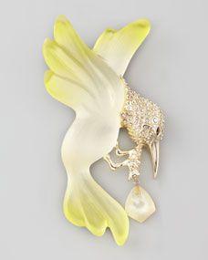 Ophelia Hummingbird Brooch