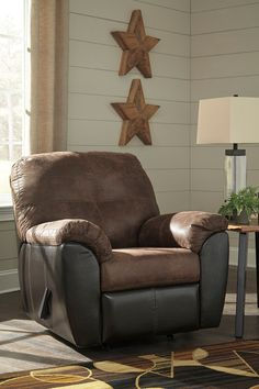 Gregale - Coffee - Rocker Recliner by Signature Design by Ashley. Get your Gregale - Coffee - Rocker Recliner at I Keating Furniture World, Minot ND furniture store. Queen Sofa Sleeper, Queen Memory Foam Mattress, Signature Design, Foot Rest, Glasgow, End Tables, Seat Cushions, Brown And Grey, Upholstery