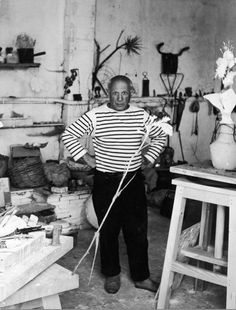 Portrait of Pablo Picasso by Robert Doisneau, Vallauris, 1952