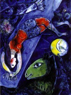 Cirque bleu Marc Chagall