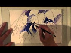 negative watercolor painting - YouTube