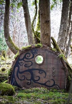 Turn an old table into a mystical and magical door for fairies, hobbits, gnomes and more.