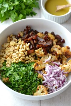 Roasted Cauliflower, Date & Red Onion Salad   Every Last Bite