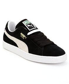 ba88afb9fd7 Puma Men s Suede Classic Casual Sneakers from Finish Line - Black 8.  Zapatillas ...