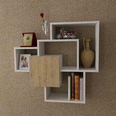 SWEET Mensola da muro - Bianco - Mensola Parete - Mensola Libreria - Scaffale pensile per studio / soggiorno in Design moderno