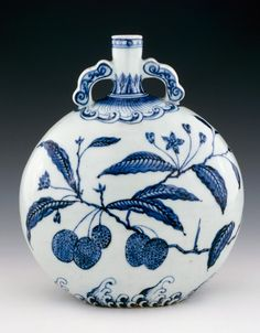 blue and white Ming Dynasty porcelain - China