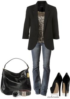 LOVE this outfit, but for me I would want pumps and not platforms, but this is a classy sassy outfit!