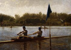 The Biglin Brothers Turning the Stake Boat, 1873, Thomas Eakins Size: 102.2x153.04 cm Medium: oil, canvas