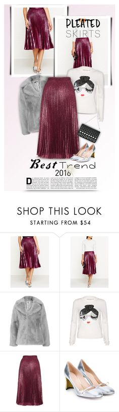 """""""Pleated Skirt - Favorite Trend in 2016"""" by kiki-bi ❤ liked on Polyvore featuring Whistles, Jakke, Alice + Olivia, Gucci, Alexander Wang, metallic, pleatedskirt, Fall2016 and besttrend2016"""