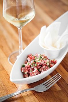 Tuna Tartare Recipe by Chef Nico Romo of Fish Restaurant, Charleston, South Carolina. Photo by Christopher Shane.