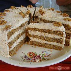 Karácsonyi diótorta /zserbo helyett/ Hungarian Cake, Hungarian Recipes, Hungarian Food, Cake Recipes, Dessert Recipes, Desserts, Poppy Cake, Almond Cakes, Cakes And More
