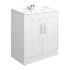 York Traditional White Ash Bathroom Basin Unit (800 x 460mm)
