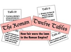The Twelve Tables:  How Fair Were the Laws in the Roman Empire?