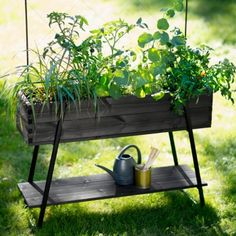 The Raised Grow Box by Kekkilä is an easy way of setting up a small garden on the balcony or terrace of your home. The easy-to-assemble kit includes a raised grow box, climber support, accessory shelf and three plant sticks. Potager Garden, Terrace Garden, Outdoor Landscaping, Outdoor Gardens, Container Gardening, Gardening Tips, Grow Boxes, How To Attract Birds, Planter Boxes