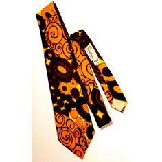 Groovy Vintage 1970s Imported Trevira Custom Designed Tie 1970s ($18) found on Polyvore