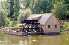 Schiffmuehle in Minden. I put this on my pool/water board because i love old barns, water mills and water!
