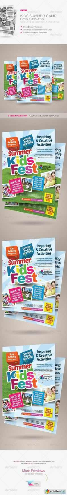 Kids Summer Camp Flyer Template Psd. Download Here: Https