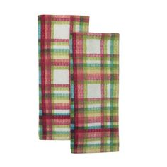 """Set of 2 FIESTA Kitchen Towels in MAD GINGHAM print - Multicolored - Machine Washable - MEASURES 16"""" X 28"""" - Cotton - Style #14375PKT. Available while supplies last!  https://www.amazon.com/dp/B01IL3HP64/ref=cm_sw_r_pi_dp_x_GIRYxbC5MYR33"""