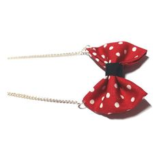 Red polka dot bow necklace, Bow Necklace, Polka dot Necklace,... ($6.55) ❤ liked on Polyvore featuring jewelry, necklaces, dot jewelry, chains jewelry, polka dot jewelry, red necklace and red chain necklace