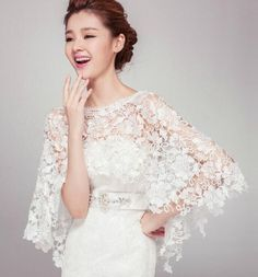 Crochet Bridal Shrug Crochet Wedding Shrug Crochet by ctroum Bridal Shrug, Bridal Lace, Bridal Gowns, Wedding Gowns, Lace Wedding, Wedding Bolero, Wedding Cape, Wedding Shawls, Elegant Wedding
