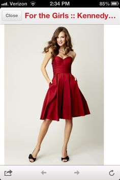 Red Bridesmaid dress... Love thIs, color & all, mostly color !