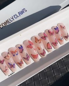 Acrylic Nails Coffin Short, Best Acrylic Nails, Coffin Nails, Korean Nail Art, Korean Nails, Garra, Boutique Nails, Hard Nails, Friend Pictures