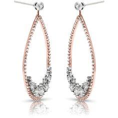 Diamond Earrings - - FEA46 ($7,590) ❤ liked on Polyvore featuring jewelry, earrings, earring jewelry, diamond earrings, diamond jewellery, diamond earring jewelry and diamond jewelry