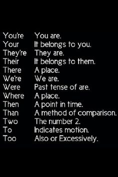 This should be in every classroom. The worst homophones for kids to remember. And adults! I can't believe that adults get these mixed up too!