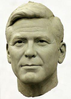 George Clooney sculpture
