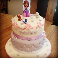 Two Tiered 2nd Birthday Cake - Sophia The First