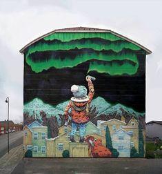 Bodø, Norvegia: nuovo pezzo dello street artist russo Rustam QBic per il Subsidenze Street Art Festival.