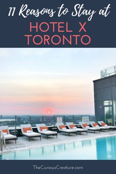 From the city's only rooftop bar & pet-friendly rooms to FREE childcare & the largest sports club I've seen, I take you inside Hotel X Toronto. Toronto Ca, Toronto Hotels, Visit Toronto, Toronto Travel, Vacation Destinations, Vacation Trips, Ontario Place, Talking Points, Travel Magazines
