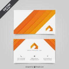 Architecture business card Free Vector