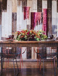 Marsala yarn backdrop