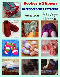 Here's a great crochet pattern collection sure to keep everyone's feet & toes toasty.