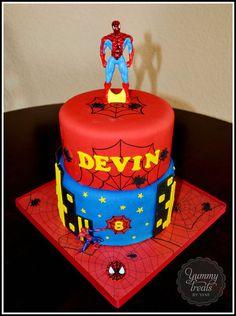 Spiderman!  Cake by YummyTreatsbyYane
