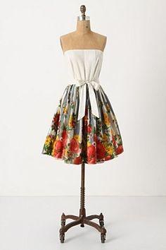 Anthropologie | strapless garden dress