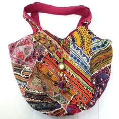 Banjara Boho Shoulder Bag – BongoJazz ...... Hippy, funky, boho bag. Trendy, colourful and fun . Promoting the ancient tribal art of Banjara. Embroidery, mirrors, coins and tassels all handcrafted from ceremonial costumes to create authentic, vintage bags.