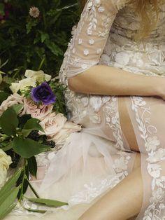 Wedding Hairstyles Inspiration : Exotic Meets English Rose: The Hermione de Paula Bridal Collection Sheer Wedding Dress, 2016 Wedding Dresses, Custom Wedding Dress, Designer Wedding Dresses, Dresses 2016, Lace Dress, Hermione, Boho Gown, London Bride