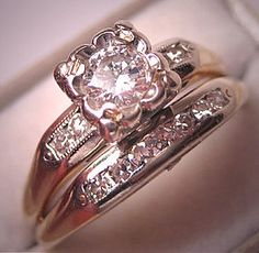 Antique wedding ring - love this! This would be a gorgeous upgrade!! Love something with history to it!!