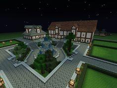 Town center Screenshots Show Your Creation Minecraft Forum Minecraft fountain Minecraft houses Minecraft blueprints
