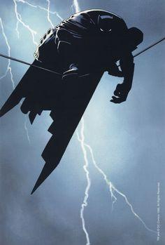 Original 1996 DC Comics 34 x 22 Batman Dark Knight comic poster:Frank Miller art Batman Poster, Batman Artwork, Batman Wallpaper, Comic Poster, Comic Book Artists, Comic Book Characters, Comic Books Art, Comic Artist, Arte Dc Comics