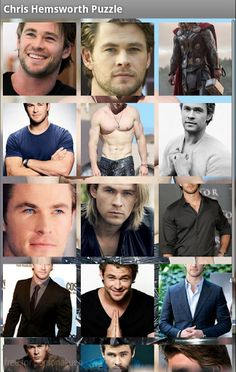 #1 Chris Hemsworth Puzzle Games<p>Chris Hemsworth (born 11 August 1983) is an Australian actor. He is best known for his role as Thor in the Marvel Studios films Thor (2011), The Avengers (2012), and Thor: The Dark World (2013); and as Kim Hyde in the Australian TV series Home and Away (2004). He has also appeared in Star Trek (2009), A Perfect Getaway (2009), The Cabin in the Woods (2012), Snow White and the Huntsman (2012), Red Dawn (2012) and Rush (2013). He will appear in the film…